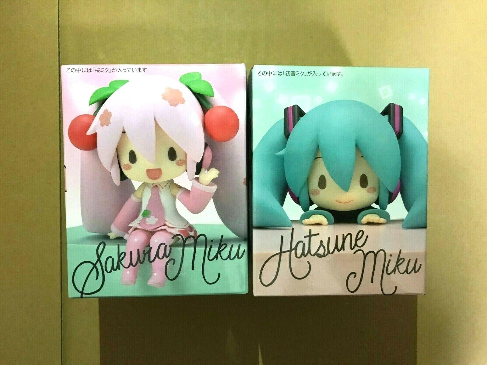 Hatsune Miku Series Chokonose Figure 2 Set SEGA Sakuramiku sakura choko nose