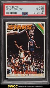 1975 Topps Basketball Moses Malone ROOKIE RC #254 PSA 10 GEM MINT