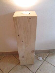 Nr 87 Fichte Deckenfluter Stehlampe Holz Ca 23cm X 23 X 81cm
