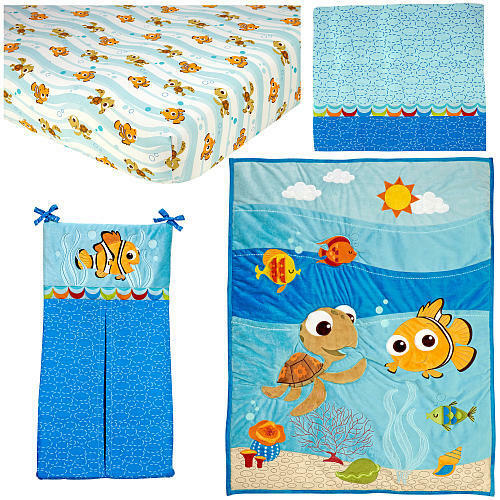 Finding Nemo 17 Piece Crib Bedding Full Set by Disney Baby