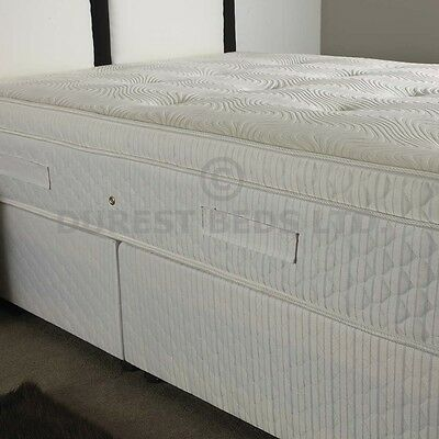 4FT6 DOUBLE POCKET SPRUNG MATTRESS PILLOW TOP ORGANIC MATTRESS