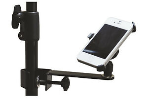 Soundlab-Microphone-Stand-iPhone-Smartphone-Phone-Holder-Upright-Holster