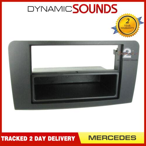 CT24MB08 Car CD Stereo Radio Fascia Panel Adaptor Black For Mercedes FP-23-05