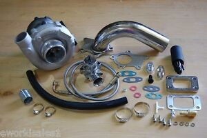 T3-T4-Hybrid-Turbocharger-Kit-T3-T4-Turbo-3an-oil-feed-Downpipe-BOV-Stage-1