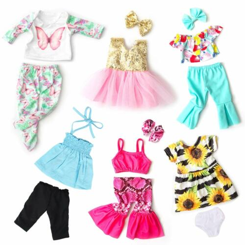 """Ecore Fun 6 Outfits for American 18/"""" Girl Doll Clothes Dress Summer Casual Wear"""