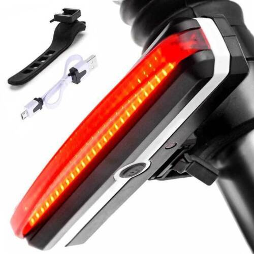 Waterproof USB Rechargeable LED Mountain Bike Cycle Front Rear Tail Light Set UK