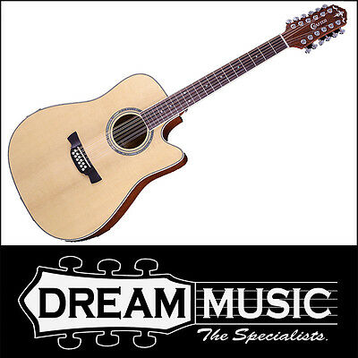 Acoustic Electric Guitars Forceful Crafter De 8-12 Spruce Top Mahogany B/s Nat Gloss 12 String Acoustic Rrp$1299