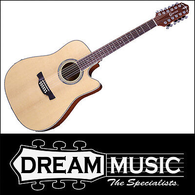 Forceful Crafter De 8-12 Spruce Top Mahogany B/s Nat Gloss 12 String Acoustic Rrp$1299 Guitars & Basses