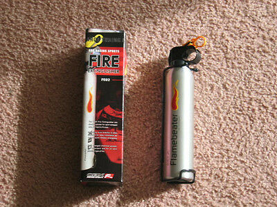 OBX Universal Safety Racing Car Boat Fire Extinguisher Silver