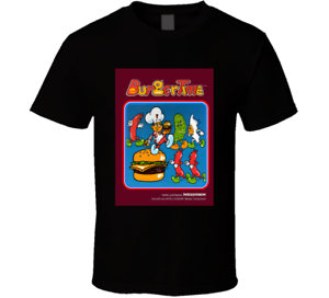 New-BurgerTime-Best-Retro-Video-Game-Old-School-Vintage-Men-039-s-T-Shirt-Size-S-2XL