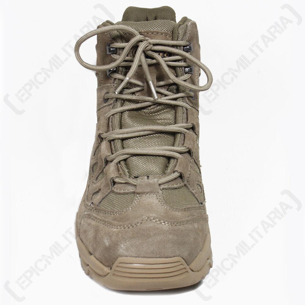 BEIGE COYOTE MILITARE SQUAD Stivali - metà tutte le taglie a metà - altezza Khaki 7a9723