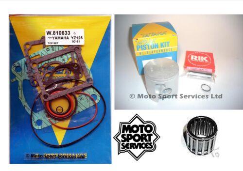 Yamaha YZ 125 90-91 Mitaka Umbau Oberes Ende Set Kolben B Dichtung /& Lager