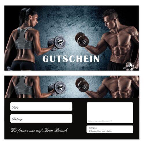 20 Geschenkgutscheine Gutscheine Kraftsport Fitnessstudio Sport Fitness-708