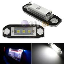 2x CAN-bus White 5050-SMD LED License Plate Light For Volvo C30 S40 S60 CX60 C70