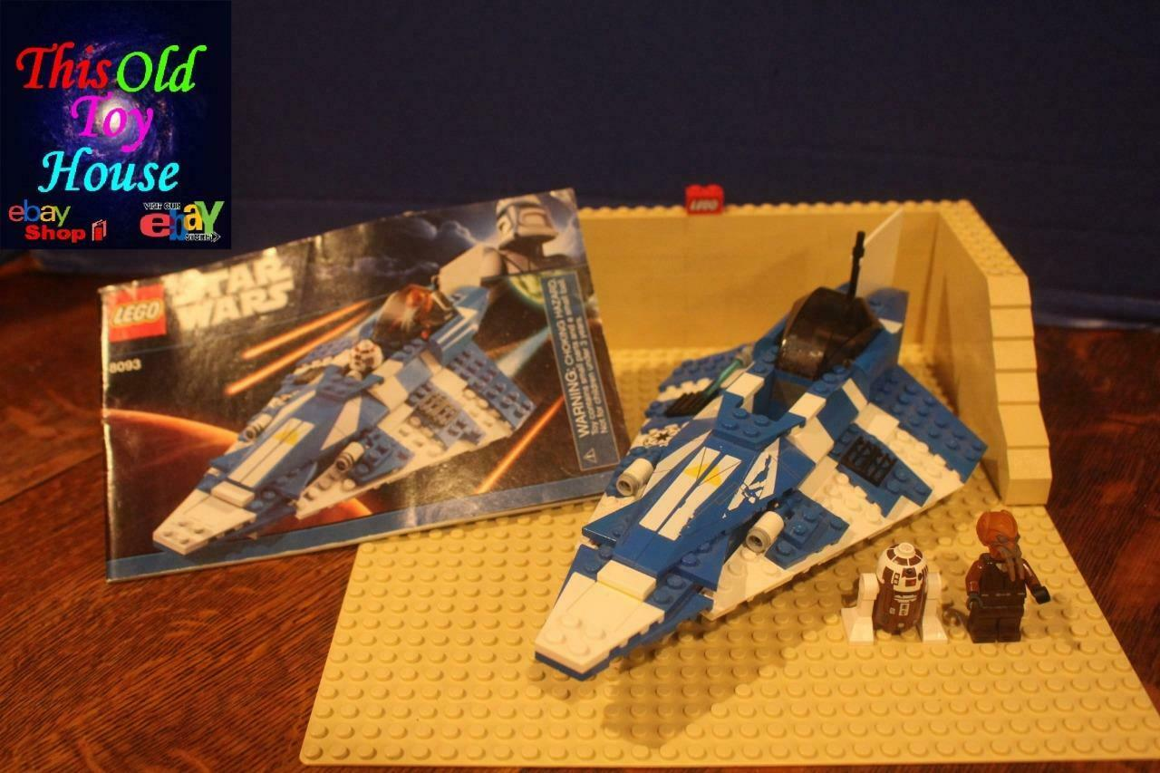 LEGO STAR WARS 8093 8093 8093 PLO KOON'S JEDI STARFIGHTER w MNFIG INSTRNS Pre-Owned NO BOX 37648a