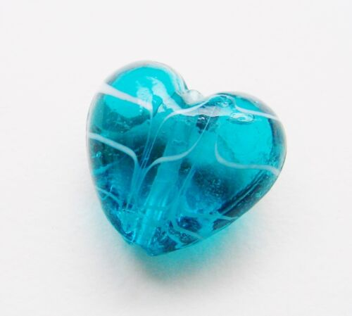 Lampwork Glasperle Herz Perle 28mm 1 Stück SERAJOSY