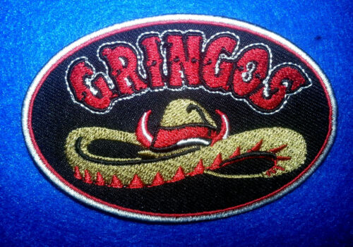 Gringos Patch 3.5/'/' by 2.5/'/' nice bright colors for your vest or jacket,
