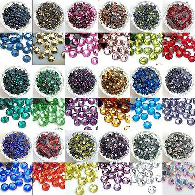 1440pcs(10gross) DMC Iron On Hotfix Crystal Rhinestones Beads Lot SS6 ~ SS20