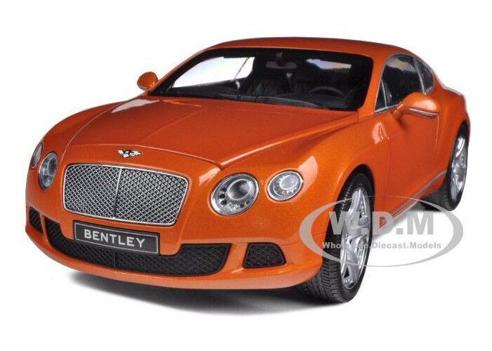 2011 BENTLEY CONTINENTAL GT METALLIC arancia 1/18 CAR BY MINICHAMPS 100139921
