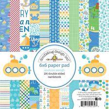 Scrapbooking Crafts Doodlebug 6X6 Paper Pad Anchors Aweigh Blue Sail Boats Dots