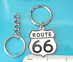 Route 66 Keychain Keyring The Mother Road Motorcycle Plastic