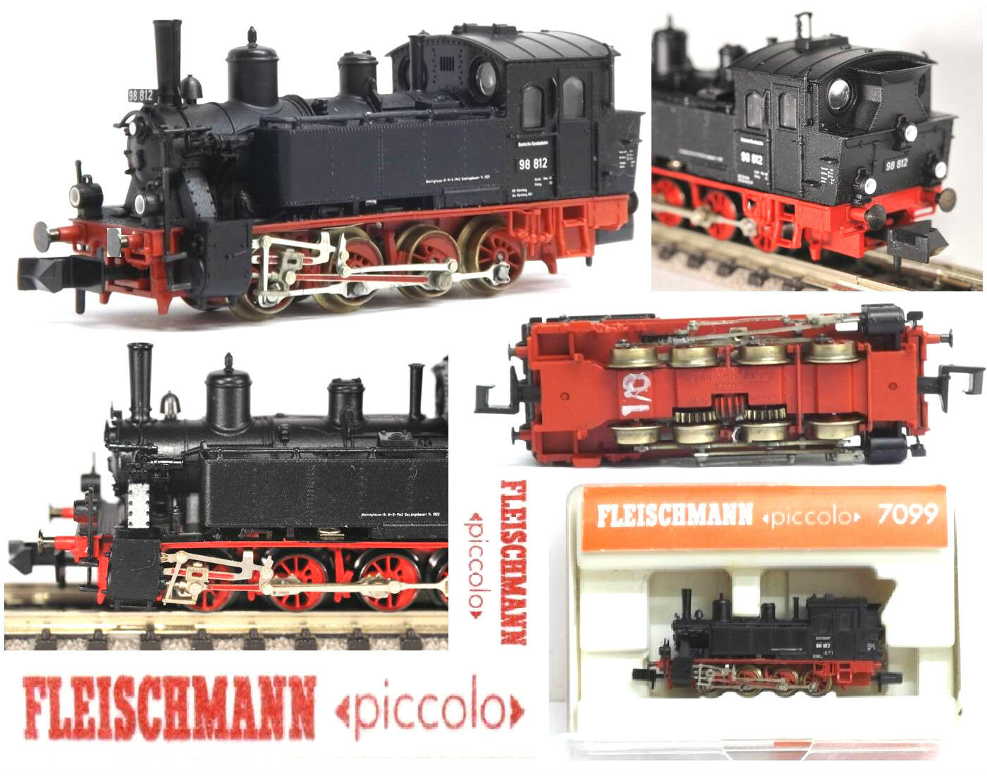 Fleischmann 7099 Dampflok Gtl 4 4 BR98 Dr Tenderlok mit Integriertem Ovp Scala-N