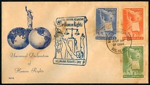 Philippine-1951-Universal-Declaration-of-Human-Rights-FIRST-DAY-COVER