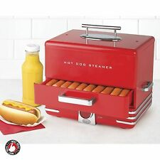 Hot Dog Steamer Cooker Maker Bun Warmer Retro Kitchen Appliance Large Commercial