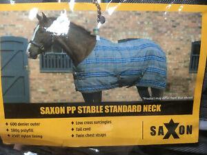 "180g Polyfill Saxon PP Stable Rug Standard Neck Medium II Grey Plaid 5/'9/"""