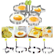 Stainless Steel Fried Egg Shaper Pancake Mould Mold Kitchen Cooking Tools Silver