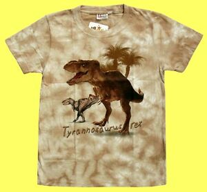 T-shirt Dino Dinosauri Tyrannosaurus Rex Tg. 98/104, 134/140, 146/152, dinosauri  </span>