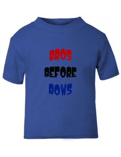 Bros Before Bows Cotton Toddler Baby Kid T-shirt Tee 6mo Thru 7t