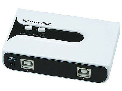 4 Port Manual Switch One USB Device//Hub Between Four Computers Tek Republic TUS-400 USB Sharing Switch