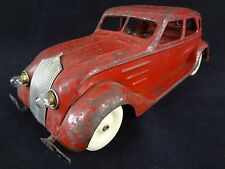 KINGSBURY Chrysler Airflow Sedan -Electric Lights– Pressed Steel Vintage Toy Car