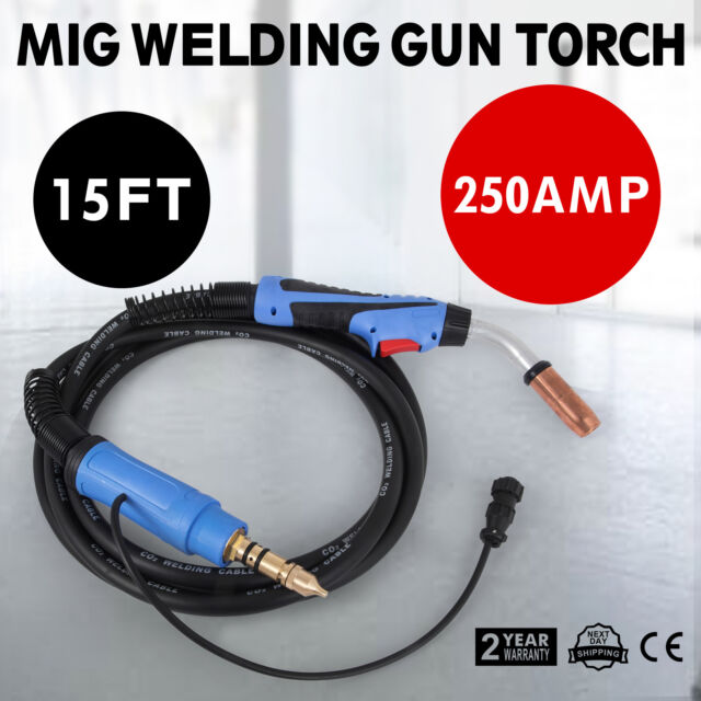 Masterweld 250A MIG gun w//15/' cable Euro connection made in USA