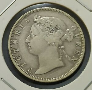 Queen-Victoria-20-Cents-Coin-1889-Straits-Settlements