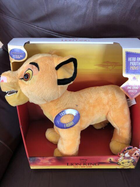 DISNEY THE LION KING Talk /& Roar ROARING SIMBA Head /& Mouth Move Plush