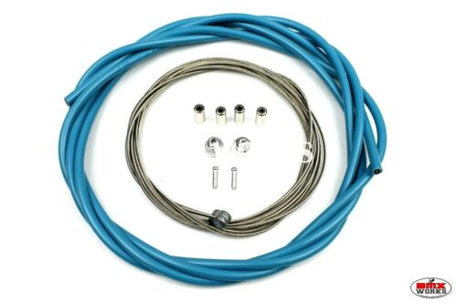 Suit Front /& Rear Aqua ProBMX 5mm Lined BMX Brake Cable Set