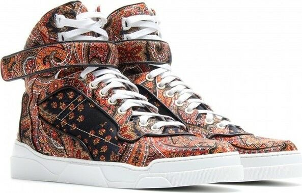 GIVENCHY Printed silk-twill high-top 2017 Turnschuhe Trainers Trainers Trainers Schuhes 38 Uk 5 US 8 1df645