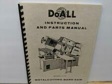 Doall C 10 Metal Cutting Band Saw Instruction And Parts Manual