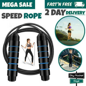 Jump-Rope-Crossfit-Boxing-Skipping-Adjustable-Ball-Bearing-Fitness-Speed-Rope