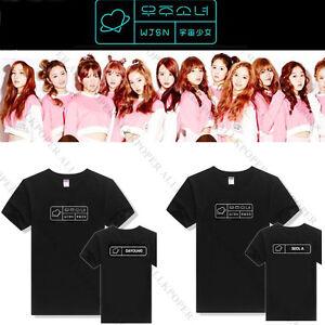 Kpop-WJSN-T-shirt-Cosmic-Girls-Tshirt-Unisex-Tee-Tops-BONA-DAWON-Cotton