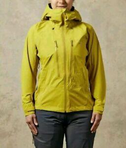 Rab Womens Downpour Alpine Jacket Waterproof Coat Uk 8 Qwf