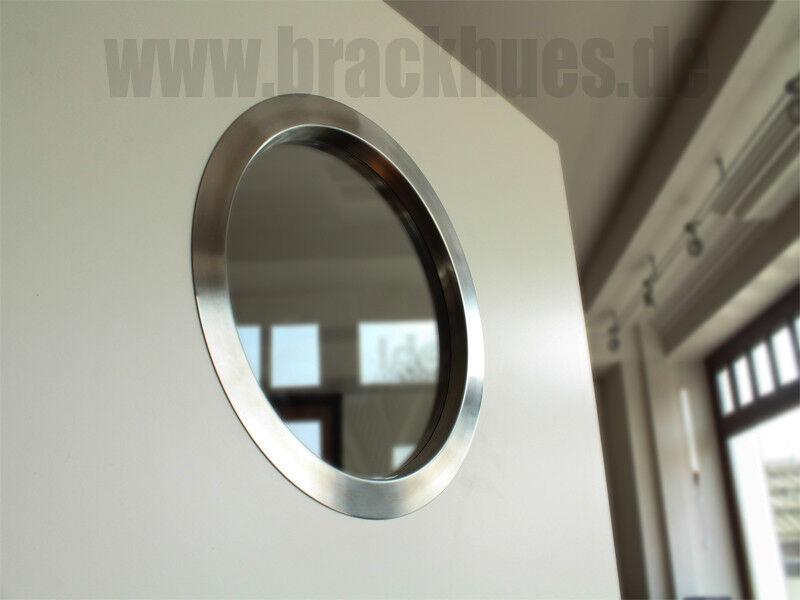 Bullauge Türbullauge Türfenster Edelstahl V2A einseitig ohne sichtbare Schrauben