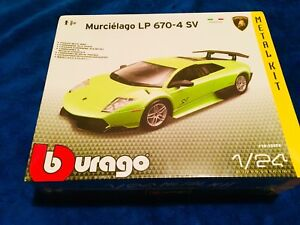 Lamborghini-Murcielago-LP-670-4-SV-Burago-1-24-Kit-Montar-Maqueta-Coche-Italia-P