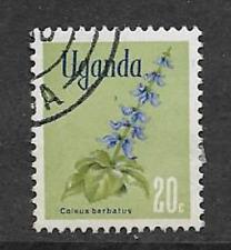 Sello usada Uganda 1969 - 20c-flora nativa, Coleus barbatus definitivo problema