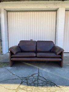 De Sede DS 61 Zweisitzer Leder Sofa vintage Couch Original 70er mid Century