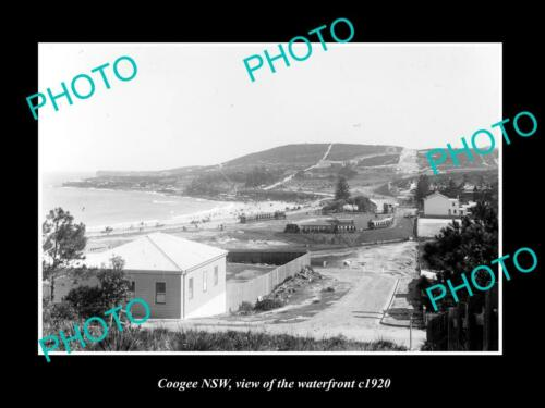 OLD 6 X 4 HISTORIC PHOTO OF COOGEE NEW SOUTH WALES, VIEW OF THE WATERFRONT c1900