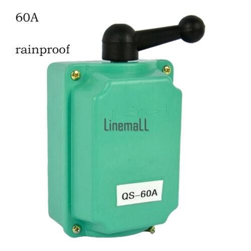 60 A Drum Switch Forward//Off//Reverse Motor Control Rain-Proof Reversin WDC