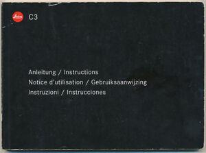 Leica-C3-libretto-di-istruzioni-in-6-lingue-2002-E232
